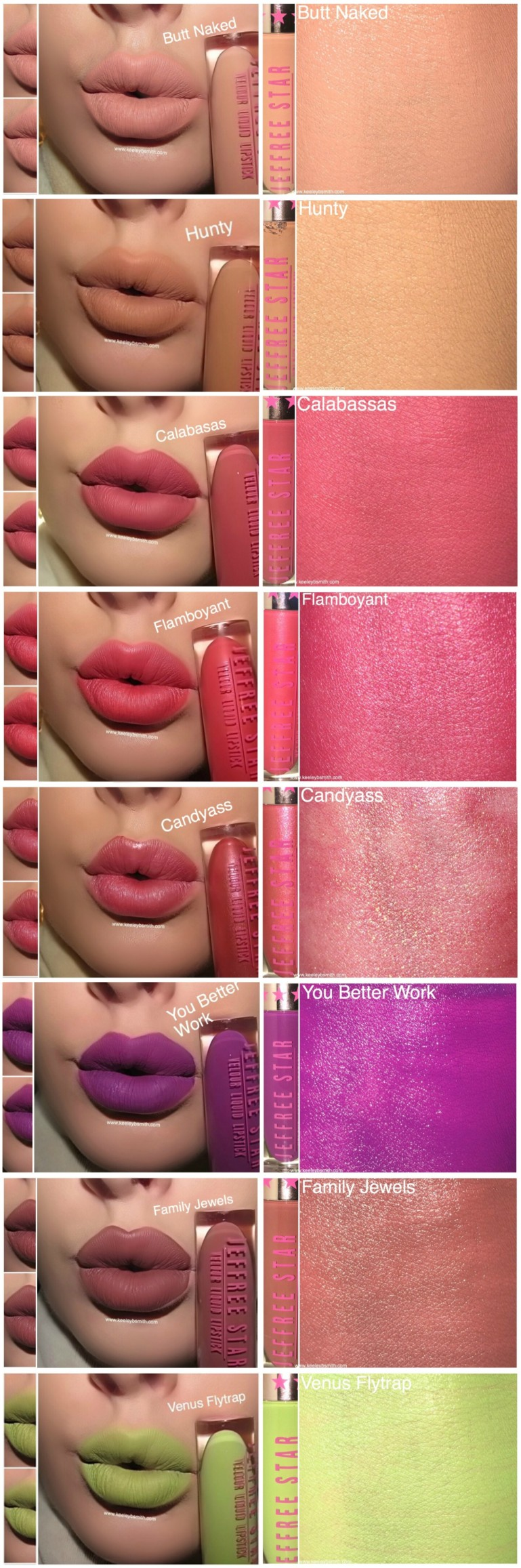JS LIP SWATCH 8 CANDY OUT