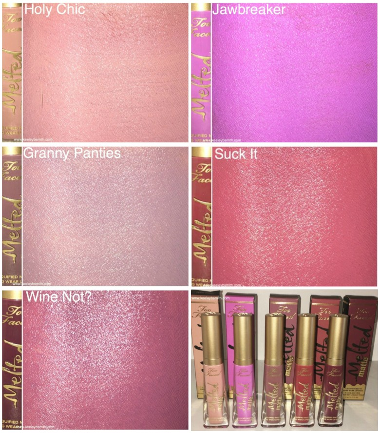 Too Faced Arm Swatch 1