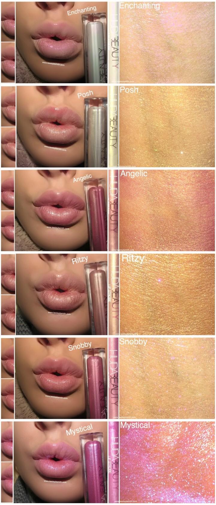 Huda Lip Strobe Swatch 2
