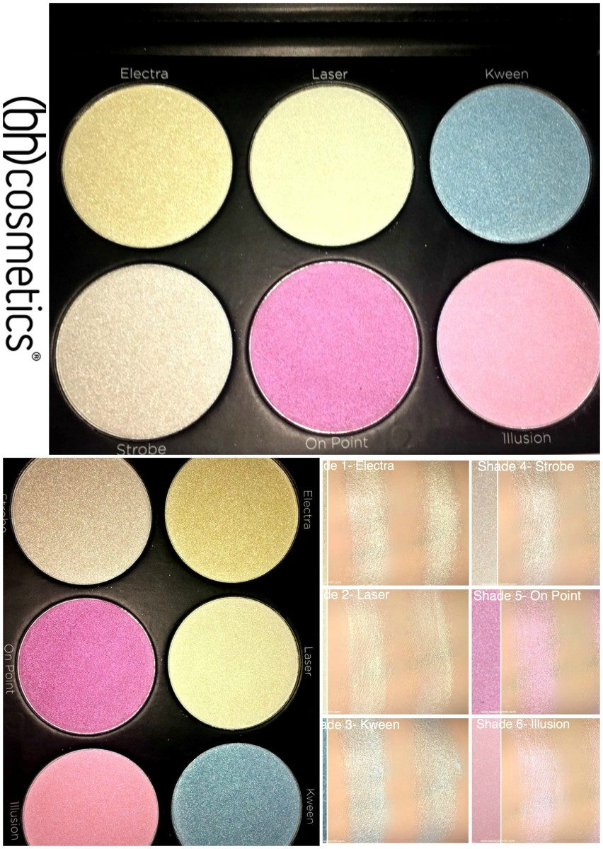 BH Cosmetics Blacklight Highlighting Palette Review ...